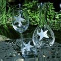 Starfish Engraved Glass Carafe | Rolf Glass | 400709