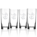 Rope and Anchor Iced Tea Glass Set of 4 | Rolf Glass | 232010