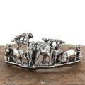 Animal Kingdom Sterling Silver Cuff Bracelet | Kabana | BR199