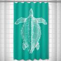 Sea Turtle Shower Curtain Vintage Aqua | Island Girl Home | SC163