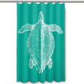 Sea Turtle Shower Curtain Vintage Aqua | Island Girl Home | SC163 -2