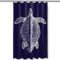 Sea Turtle Shower Curtain Vintage Navy | Island Girl Home | SC165 -2