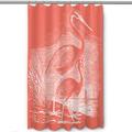 Egret Shower Curtain Vintage Coral | Island Girl Home | SC177 -2