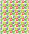 "Hibiscus Fleece Throw Blanket ""Island Fever""   Island Girl Home   THR75 -2"