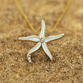 Starfish 14K Gold Mother of Pearl Pendant Necklace | Kabana | GPCF618MW