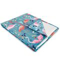 Coral Cobalt Fleece Throw Blanket | Island Girl Home | THR72