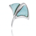 Stingray Sterling Silver Larimar Pendant Necklace   Beyond Silver Jewelry   NP10917-LAR
