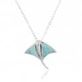 Stingray Sterling Silver Larimar Pendant Necklace   Beyond Silver Jewelry   NP10917-LAR -2