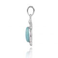 Turtle Sterling Silver Larimar Pendant Necklace | Beyond Silver Jewelry | NP10918-LAR -3