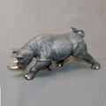 Rhino Bronze Sculpture Black | BBSRHI1-BLK