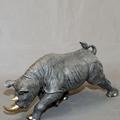 Rhino Bronze Sculpture Black | BBSRHI1-BLK-3