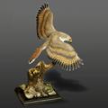 Red Tailed Hawk Bronze Sculpture  | Barry Stein | BBSREDTAILEDHAWK-3