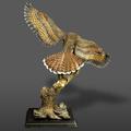 Red Tailed Hawk Bronze Sculpture  | Barry Stein | BBSREDTAILEDHAWK-4
