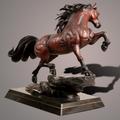 "Horse Bronze Sculpture ""The Stallion"" | Barry Stein | BBSSTALLION-4"
