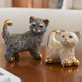 Abanico Cat Family Ceramic Figurine Set of 2 | De Rosa