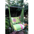 "Hummingbird and Daisy Hammock Chair Swing ""Fresh Lime"" 