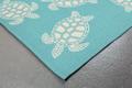 Turtle Pattern Aqua Area Rug | Trans Ocean | CAP46163404