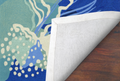 Jellyfish Ocean Blue Area Rug | Trans Ocean | CAP46166504