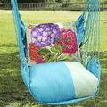 """Hydrangea Hammock Chair Swing """"Meadow Mist""""   Magnolia Casual   MMSN604-SP-2"""