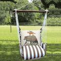 "Bear Hammock Chair Swing Go Wild ""Striped Chocolate"" | Magnolia Casual | SCMLT701-SP"