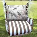 """Crane Hammock Chair Swing """"Striped Chocolate""""   Magnolia Casual   SCSW706-SP-2"""