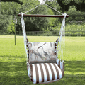 """Crane Hammock Chair Swing """"Striped Chocolate""""   Magnolia Casual   SCSW706-SP"""