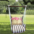 """Flamingo Hammock Chair Swing """"Striped Chocolate""""   Magnolia Casual   SCSW601-SP"""