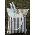 "Birds on Ironwork Hammock Chair Swing ""Striped Chocolate"" | Magnolia Casual | SCTC602-SP-3"