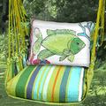 "Fish Hammock Chair Swing ""Citrus Stripe"" | Magnolia Casual | CTRR804-SP-2"