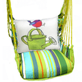 """Bird with Watering Can Hammock Chair Swing """"Citrus Stripe""""   Magnolia Casual   CTRR612-SP-2"""