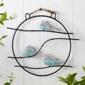 Art Glass Bird Trio Wall Sculpture   83023   SPI Home