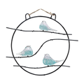 Art Glass Bird Trio Wall Sculpture | 83023 | SPI Home