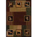 "Bear Deer Area Rug ""Corbin Square Toffee"" 