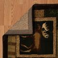 """Bear Deer Area Rug """"Corbin Square Toffee""""   United Weavers   516-29359"""