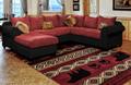 "Bear Print Area Rug Red ""Woodside"" | United Weavers | 712-30830"