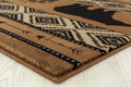 "Bear Print Area Rug Brown ""Woodside"" 