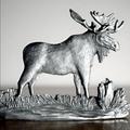 Moose Pewter Figurine   Andy Schumann   SCH125105 -2