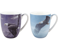 Eagle Bone China Mug Set of 2 | McIntosh Trading Eagle Mug | Robert Bateman Eagle Mug Set -2