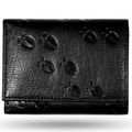Deer Tracks Black Leather Men's Trifold Wallet