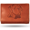 Labrador Men's Leather Trifold Tan Wallet