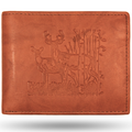 Aspen Buck and Doe Leather Bifold Tan Wallet