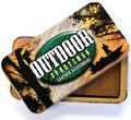 Deer Pair Scene Leather Checkbook Cover -3