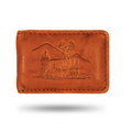 Deer Scene Leather Money Clip