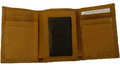 American Bison All Leather Trifold Wallet -2