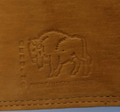 American Bison All Leather Trifold Wallet -3