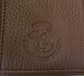 Deerskin All Leather Trifold Wallet -3