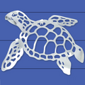 Sea Turtle Stainless Steel Wall Art | R Mended Metals | 10013
