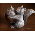 Squirrel with Wood Acorn Pewter Salt Pepper Shakers | Vagabond House | S116W