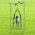 Frog and Swing Garden Sculpture | Daredevil | SPI Home | 34797