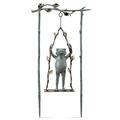 Frog and Swing Garden Sculpture | Daredevil | SPI Home | 34797 -2
